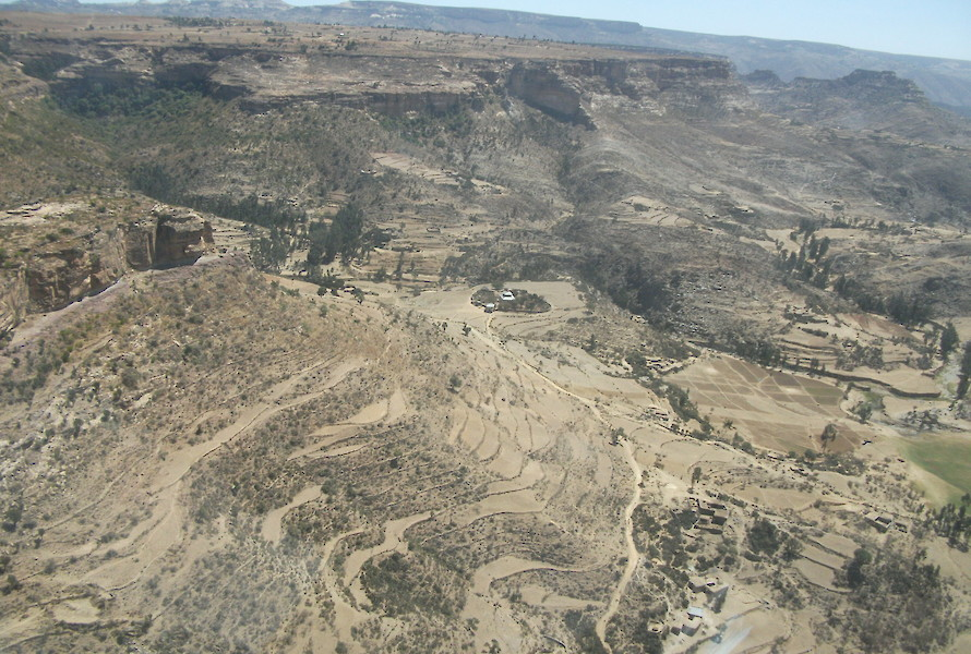 Aerial view of the licence area