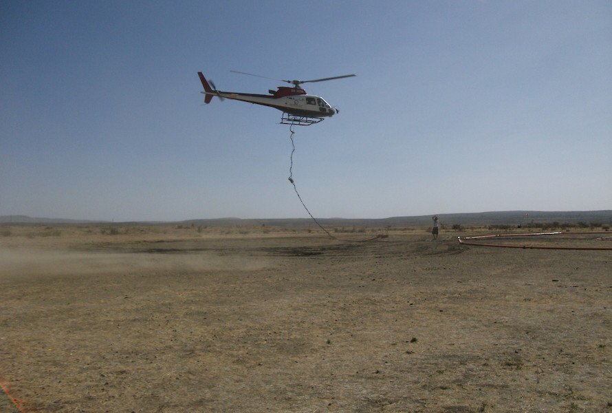 Geophysical survey being flown