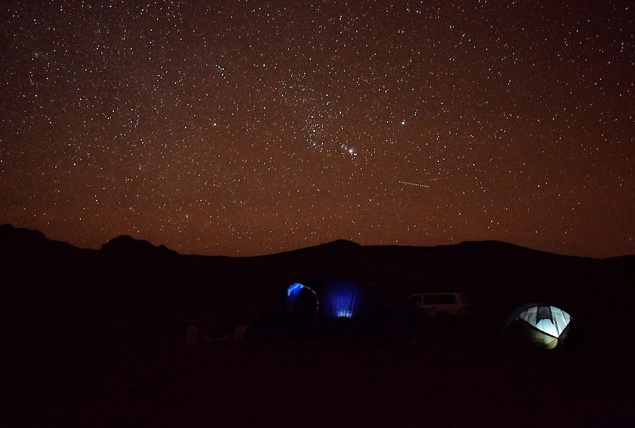 Camping underneath the stars