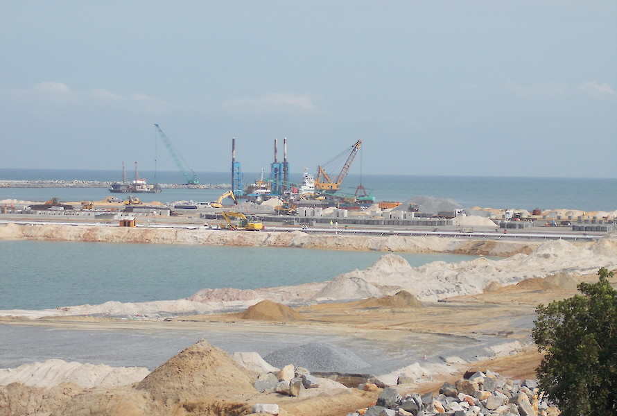 Kribi deep water port construction