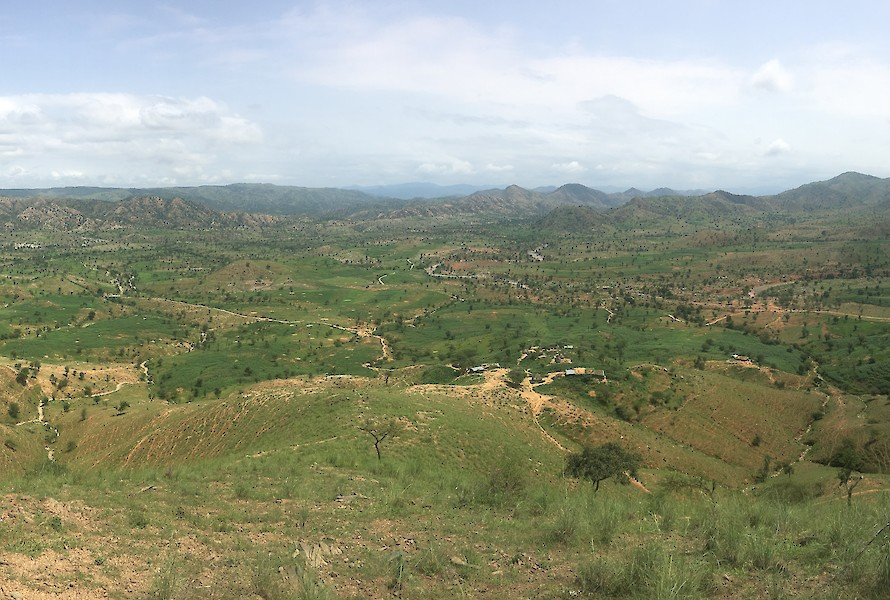 Panorama looking north towards Eritrea