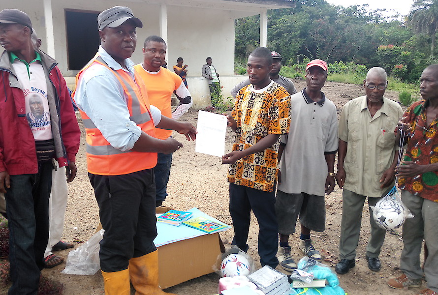 Donation of learning materials to Kalemai School
